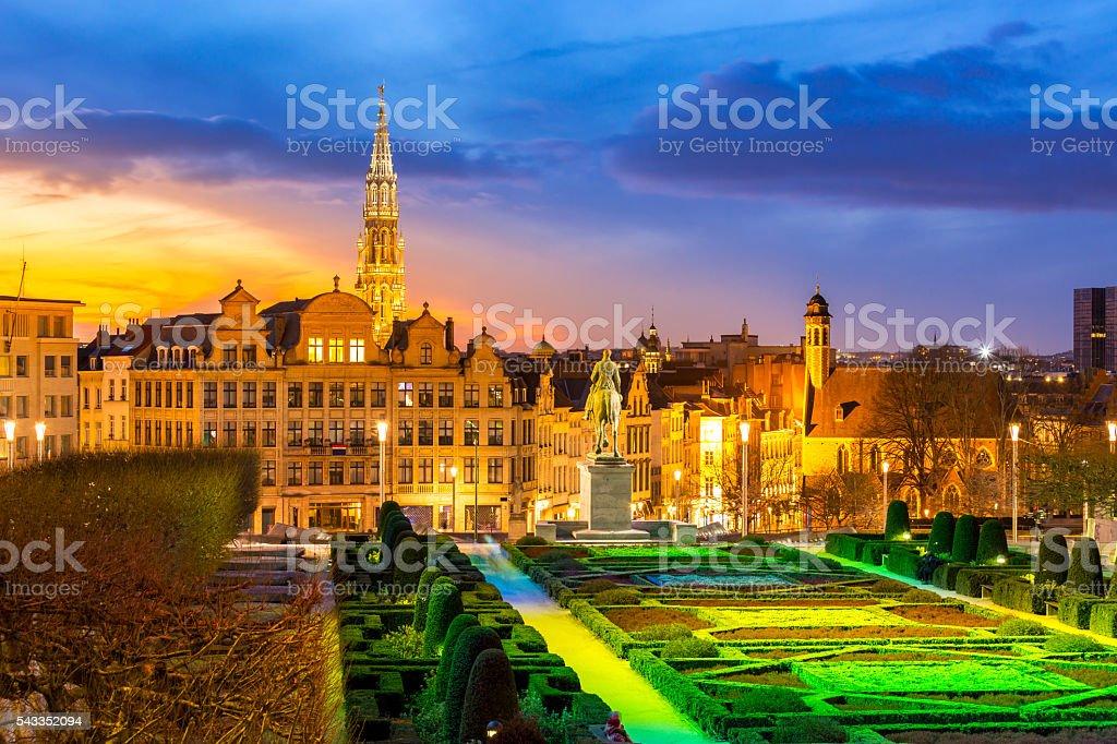Brussels Cityscape Belgium stock photo
