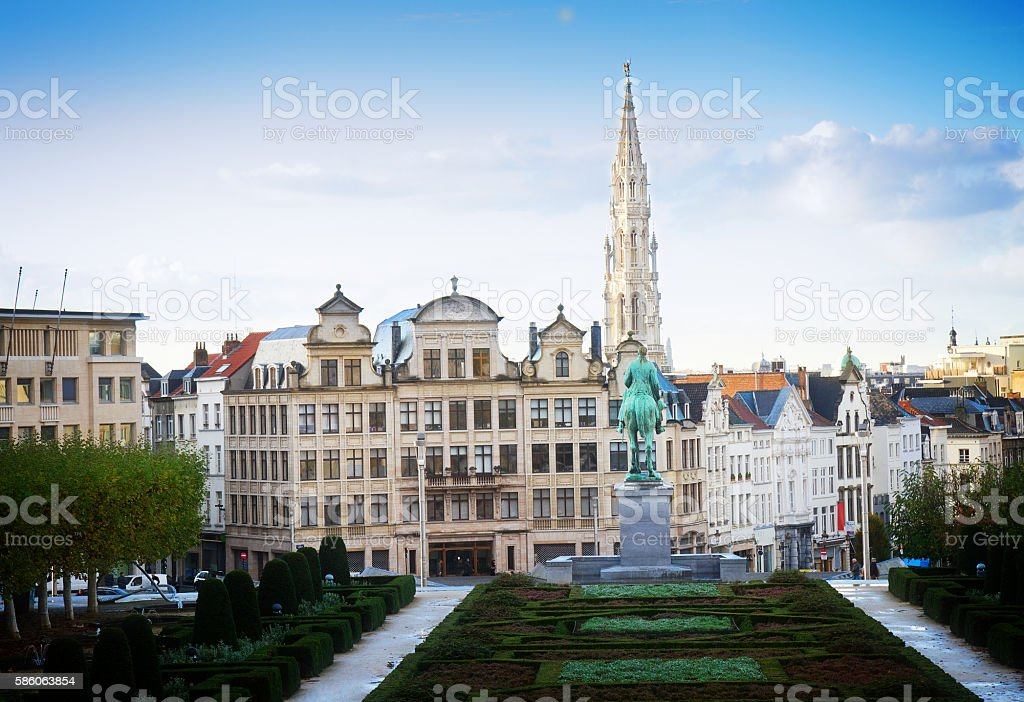 Brussels cityscape stock photo