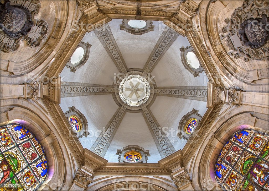 Brussels - Cupola of Maes-chapel in the cathedral stock photo