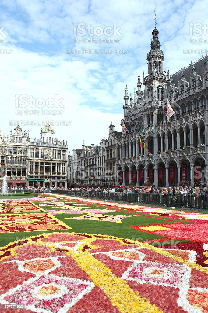 Brussels Flower Carpet 2010 stock photo