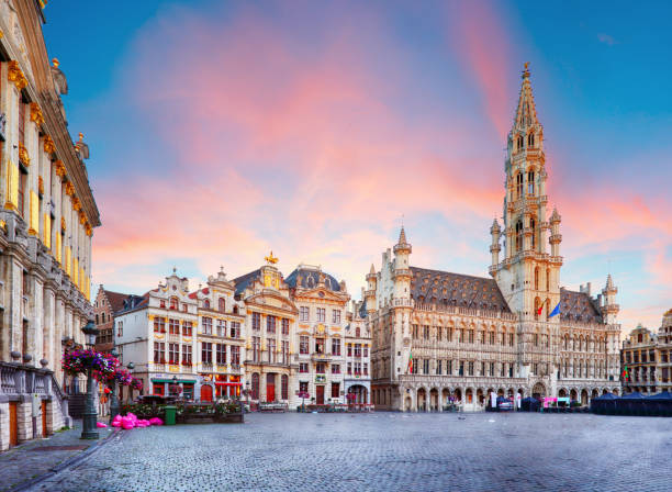 Brussels - Grand place, Belgium, nobody stock photo