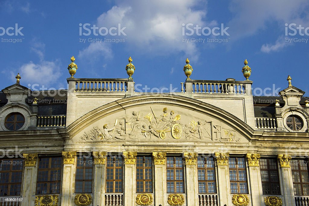 Brussels grand place building stock photo