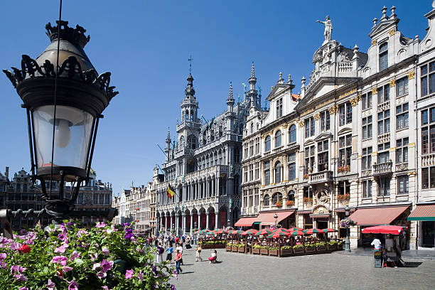 Brussels Grand Place in the summer stock photo