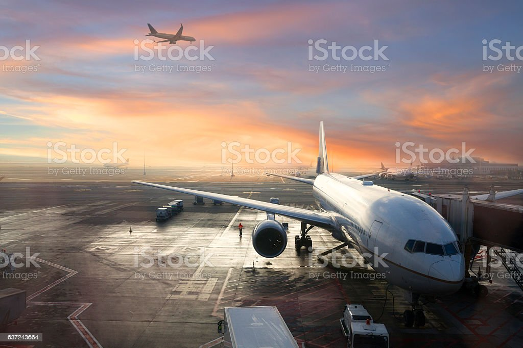 Brussels International Airport, Belgium stock photo