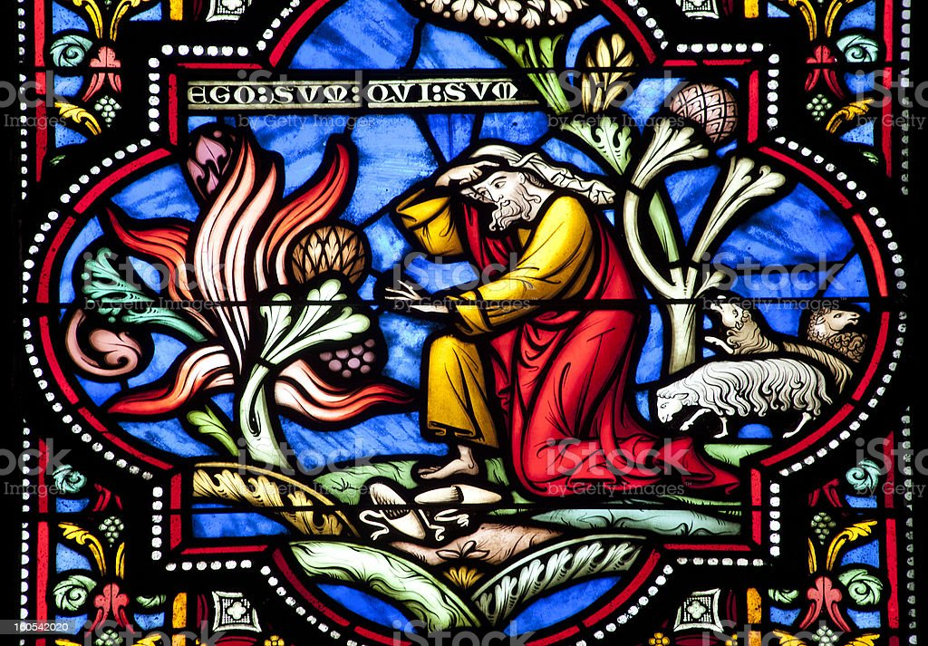 Brussels - Moses and the bush from cathedrale royalty-free stock photo