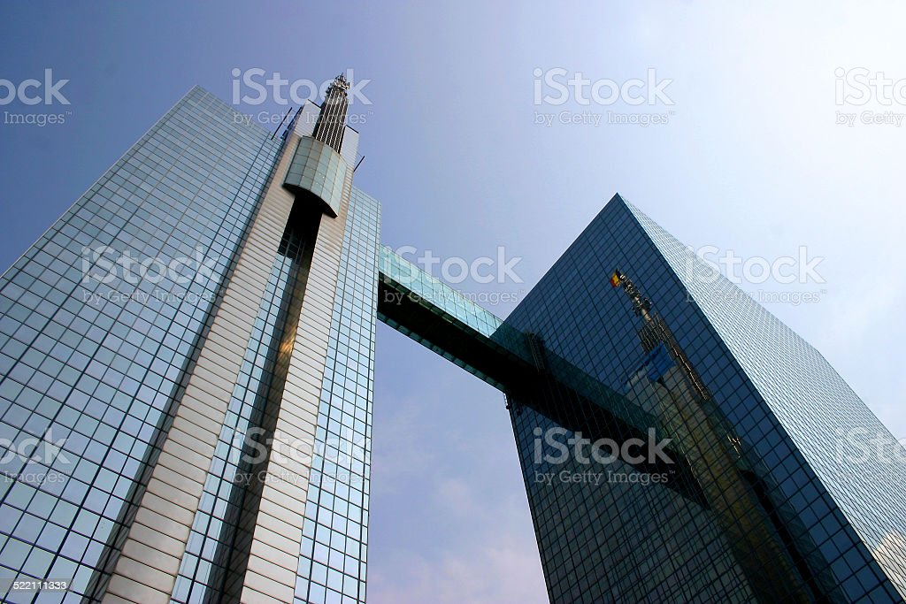 Brussels office downtown district stock photo