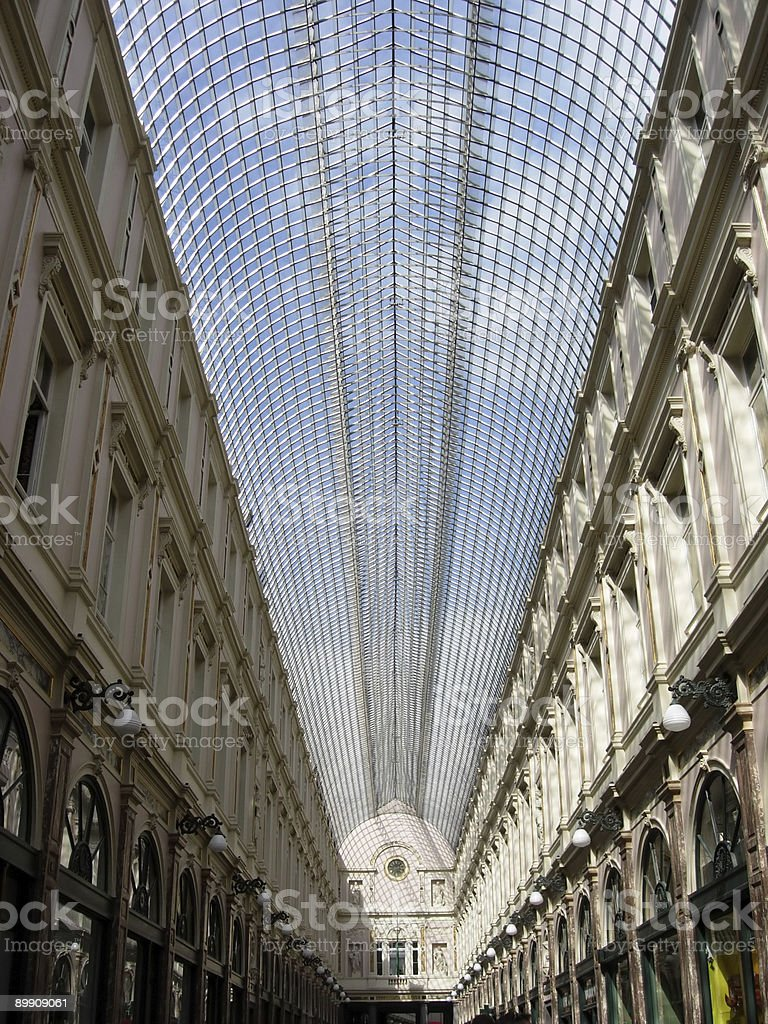 Brussels Passage Interior royalty-free stock photo