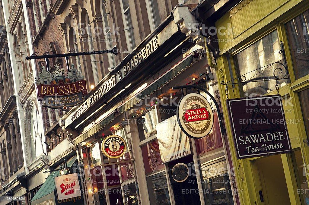 Brussels Restaurant stock photo