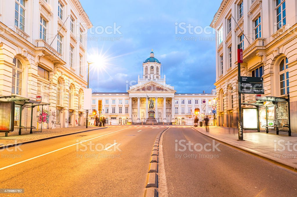 Brussels Royal Square Belgium stock photo