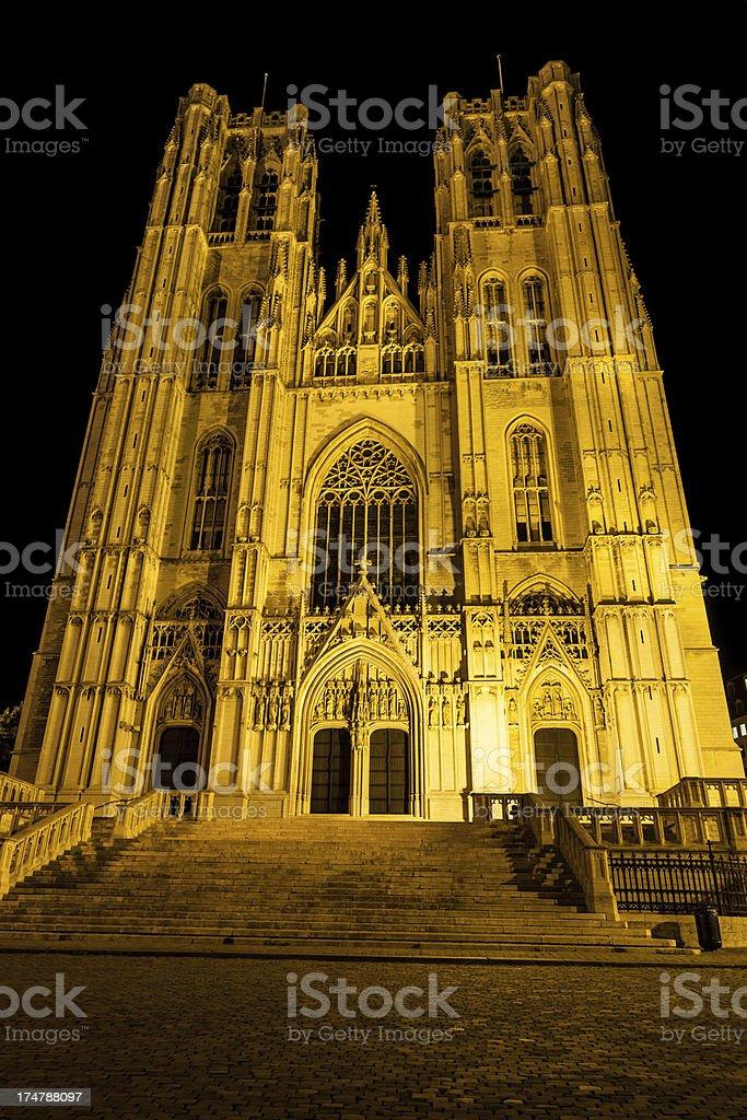 Brussels - Saint Michael stock photo