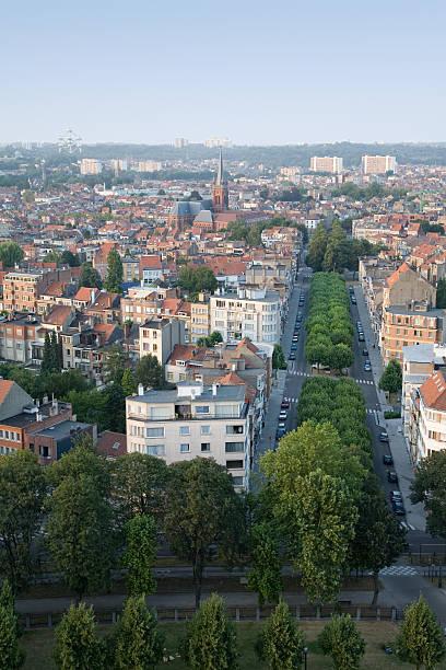 Brussels skyline, north stock photo