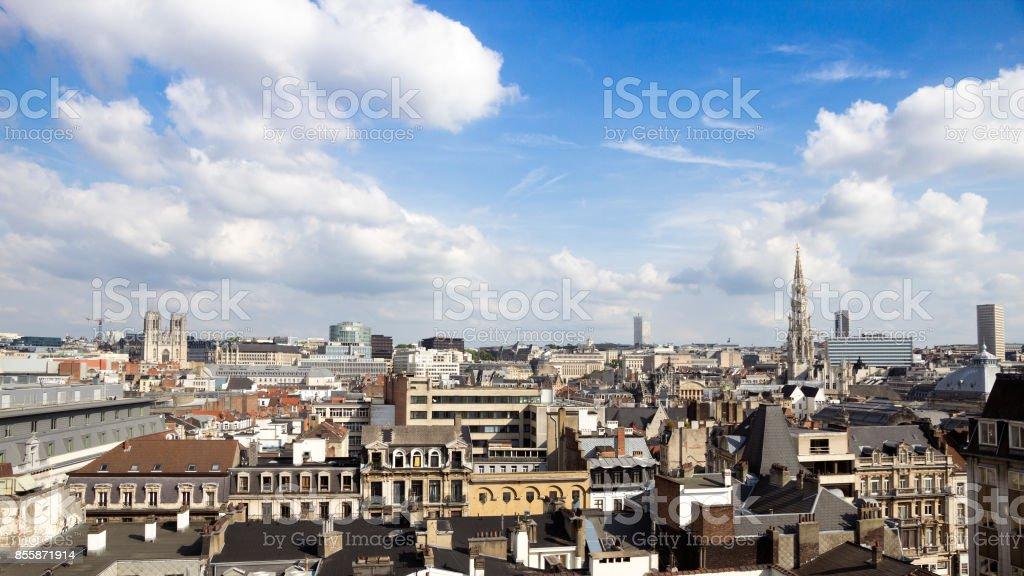 Brussels skyline stock photo