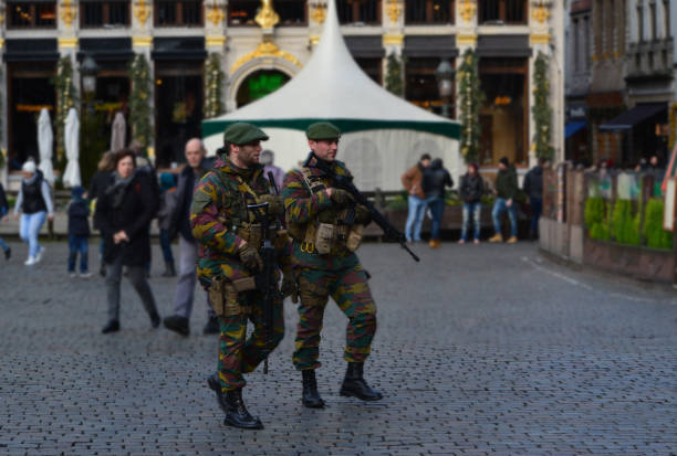 Brussels Soldiers stock photo