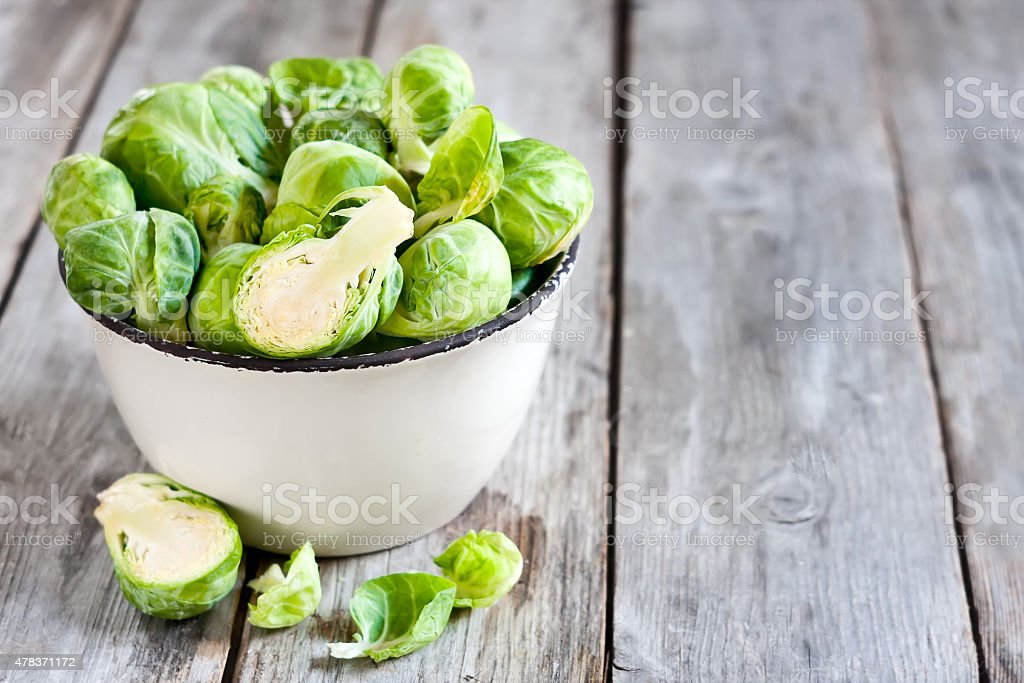 Brussels sprout background stock photo