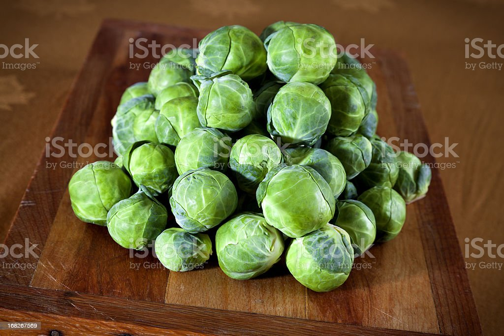 Brussels Sprouts, Fresh Organic Vegetables royalty-free stock photo