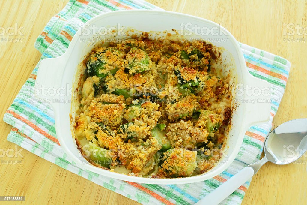 Brussels sprouts gratin royalty-free stock photo