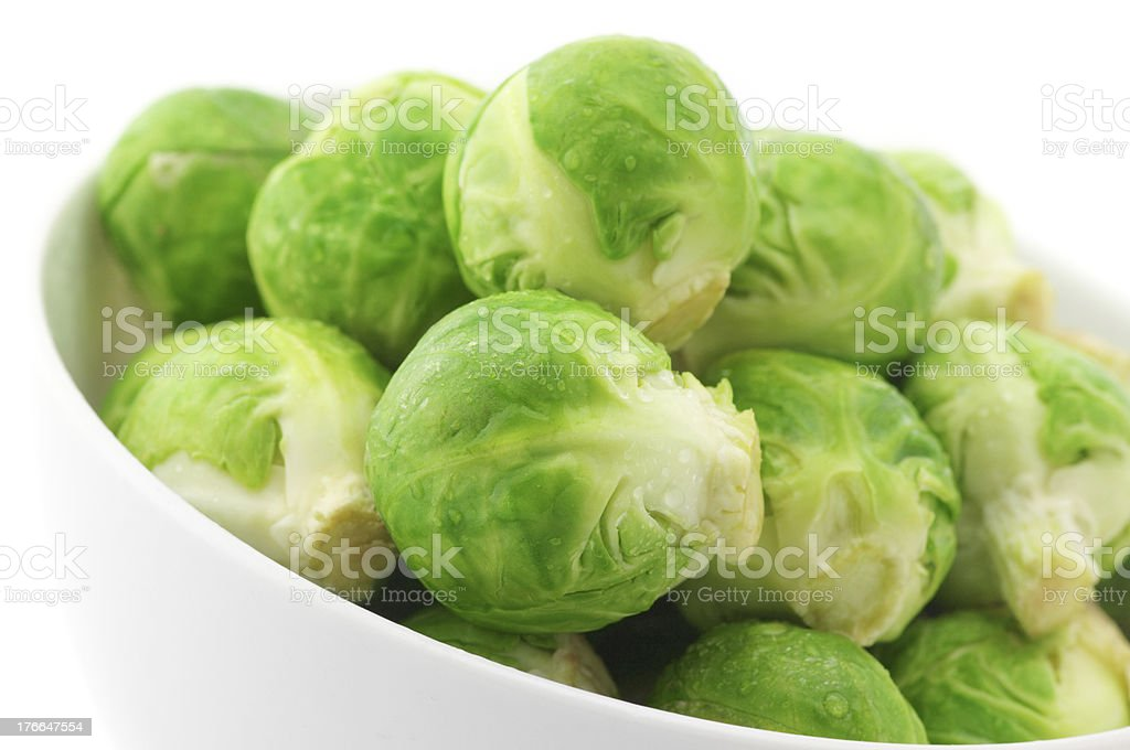 Brussels sprouts in bowl royalty-free stock photo