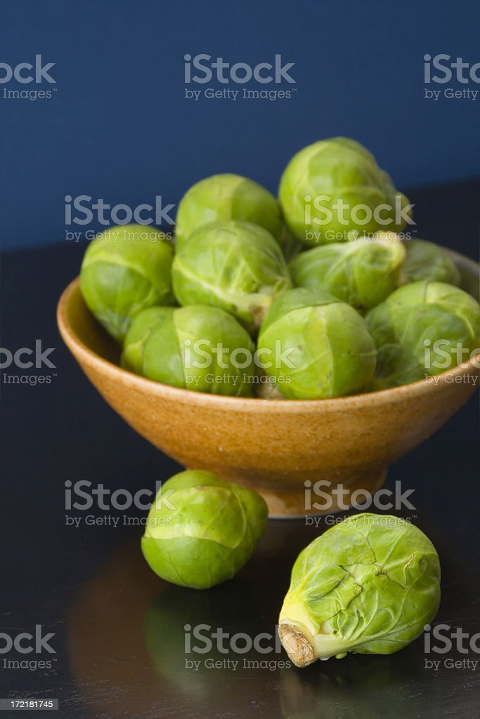 Brussels Sprouts in Bowl Vt royalty-free stock photo
