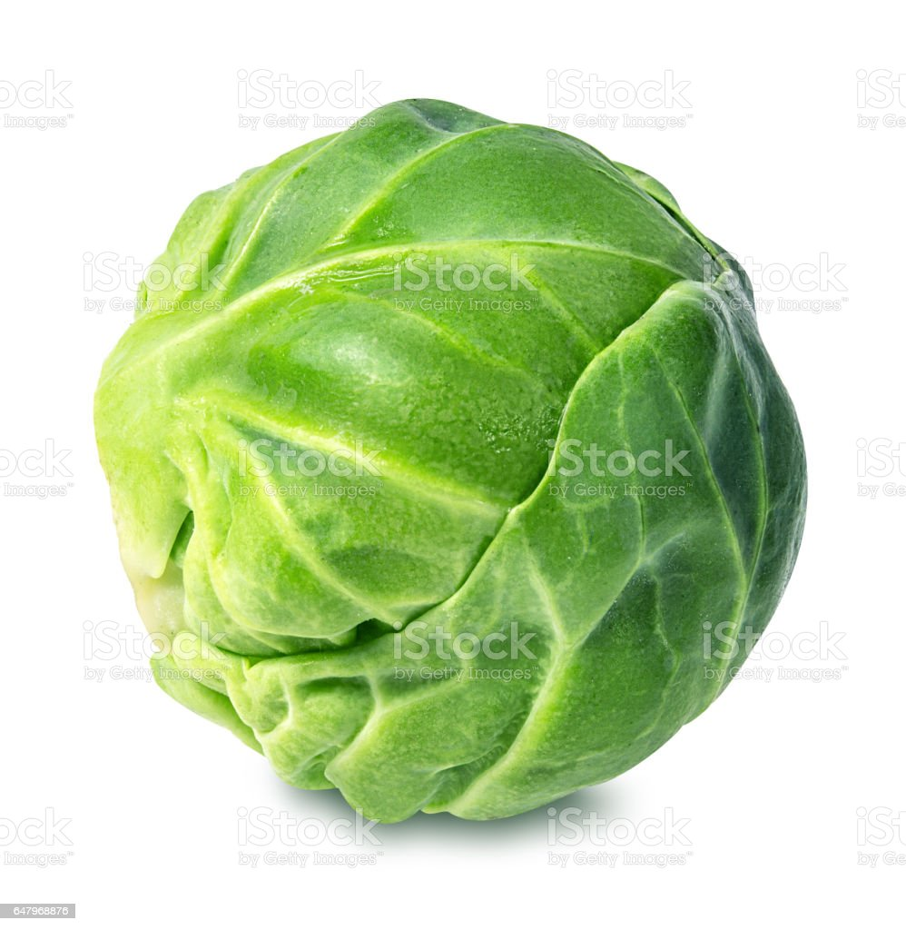 Brussels sprouts isolated on white stock photo