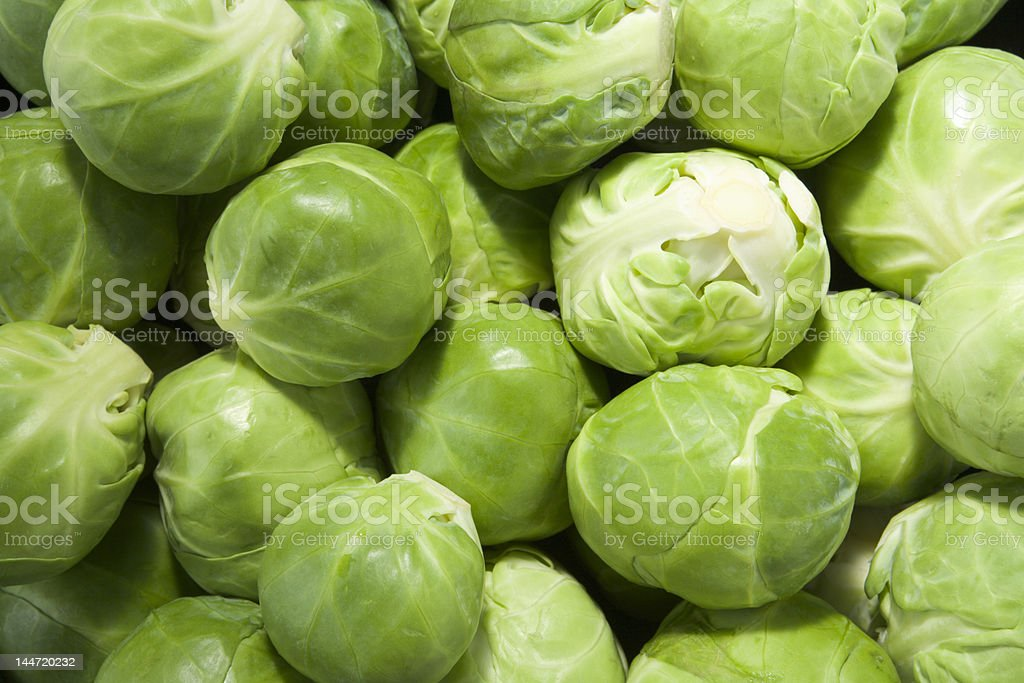 Brussels sprouts (landscape) royalty-free stock photo