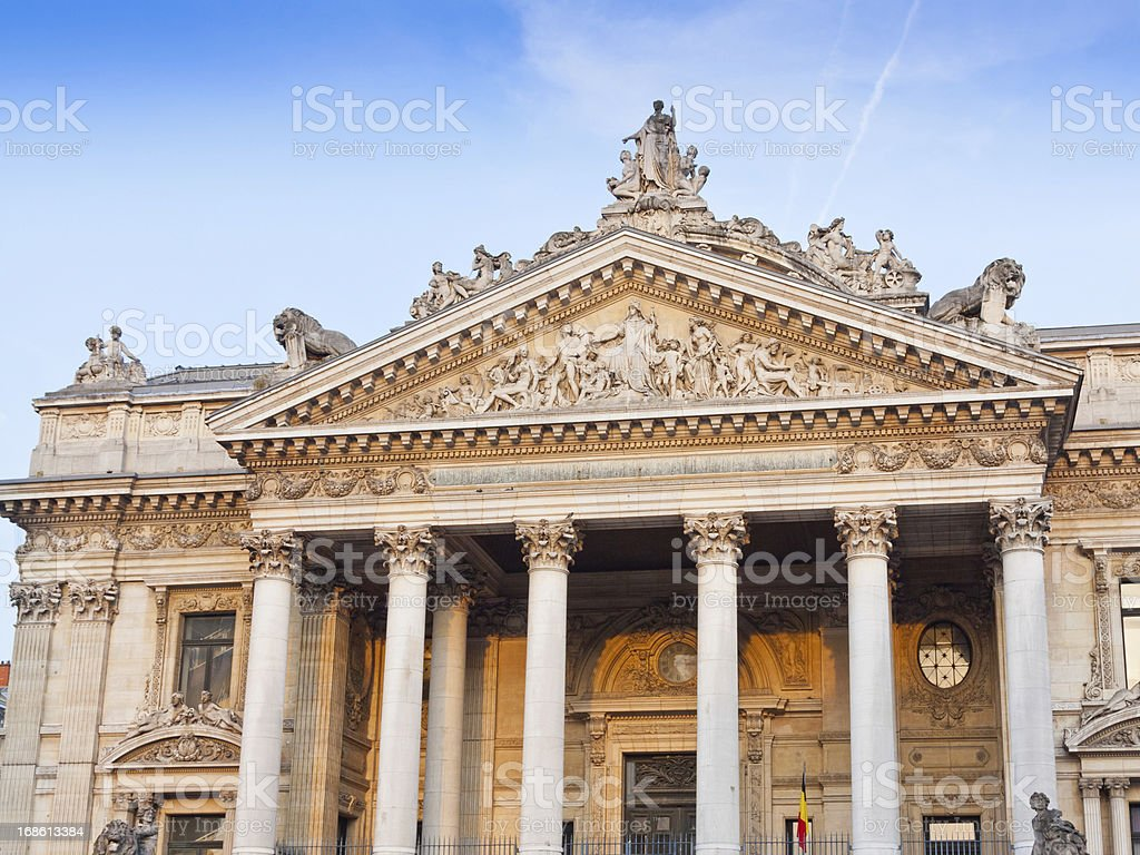 Bourse de Bruxelles. - Photo