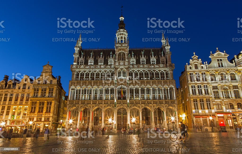 Brussels - The Grote Markt square and Grand palace stock photo