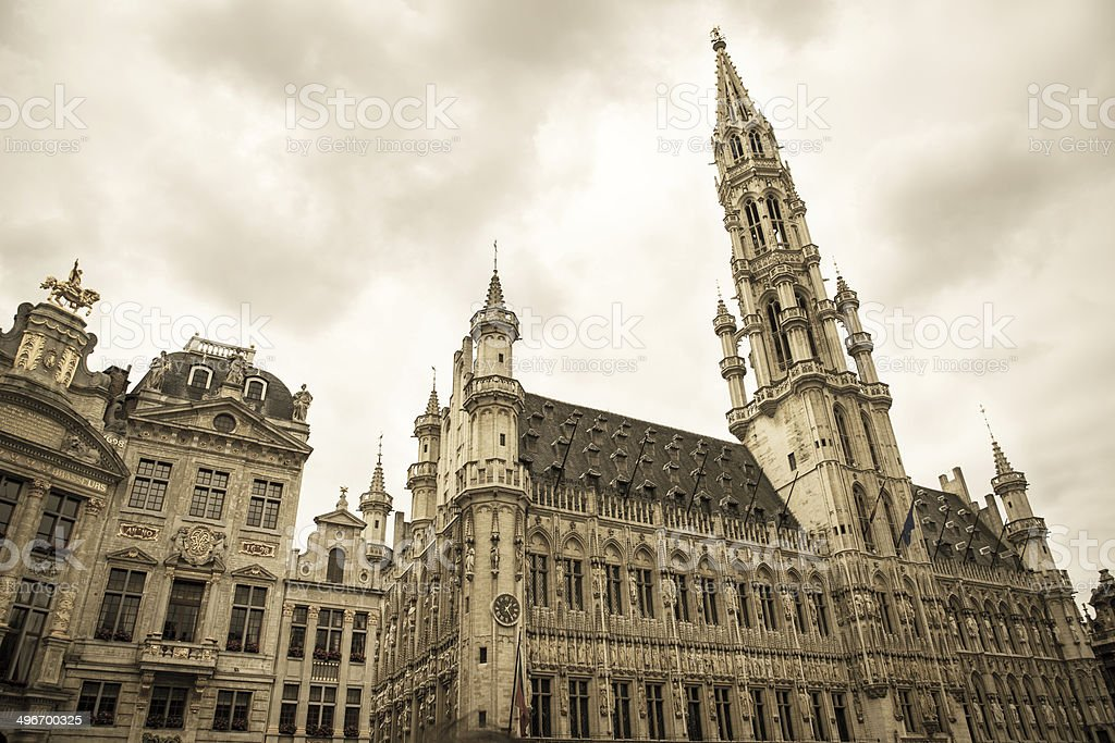 Brussels Town Hall stock photo