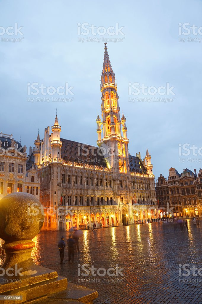 Brussels Town Hall royalty-free stock photo