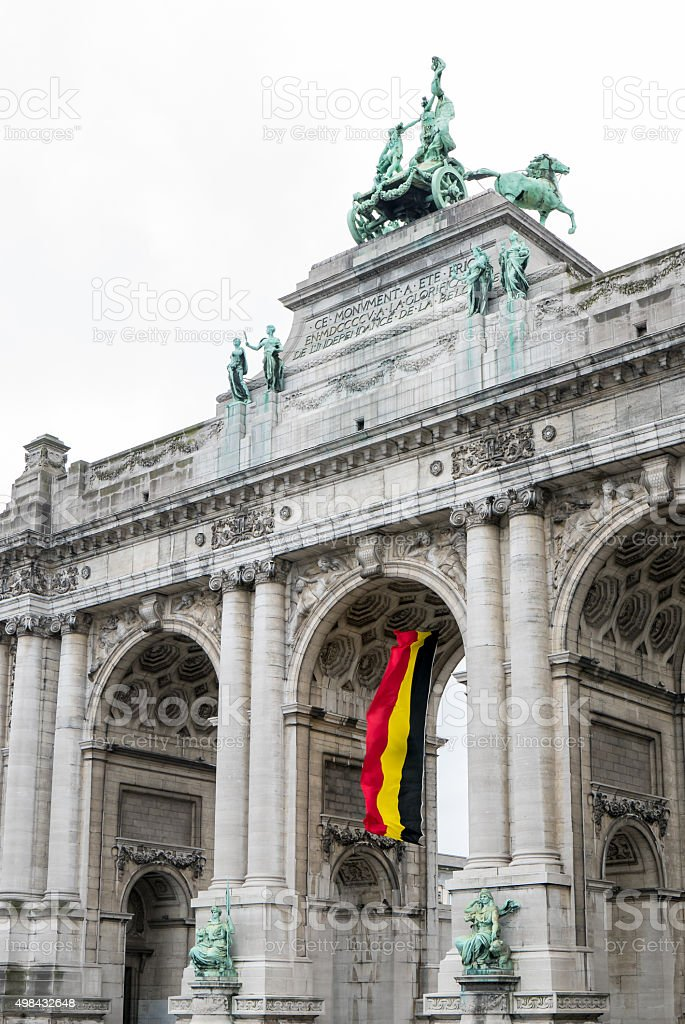 Brussels triumphal arch foto