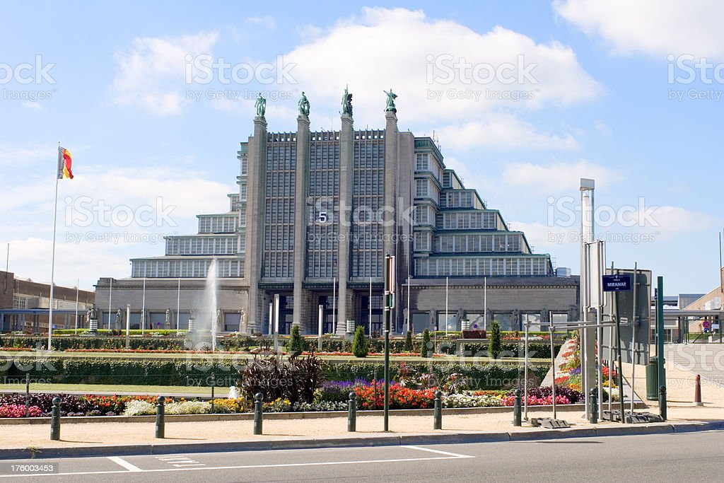 Brussels World Expo hall royalty-free stock photo