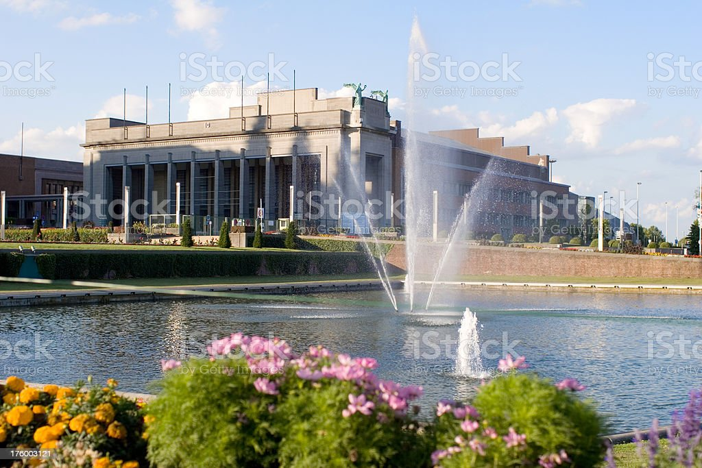 Brussels world exposition building royalty-free stock photo