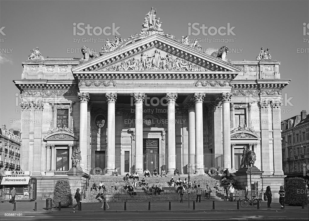 Bruxelles-la Bourse de Bruxelles - Photo