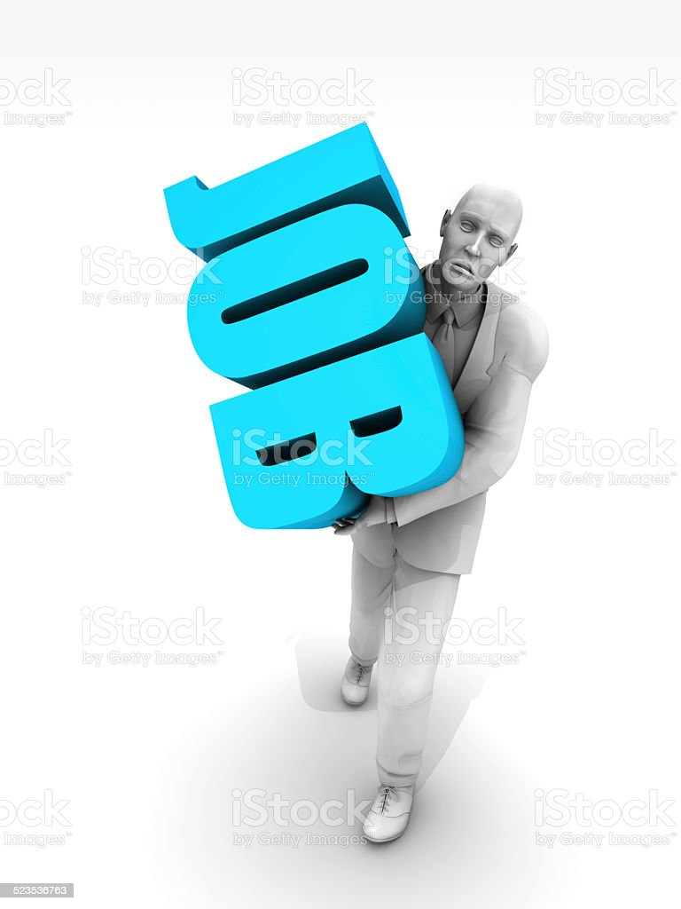 Brutal Businessworld and Worker stock photo