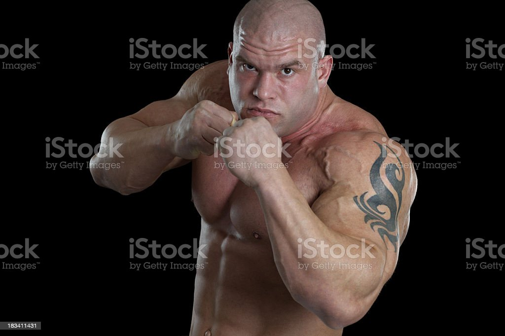 Brutal fighter royalty-free stock photo