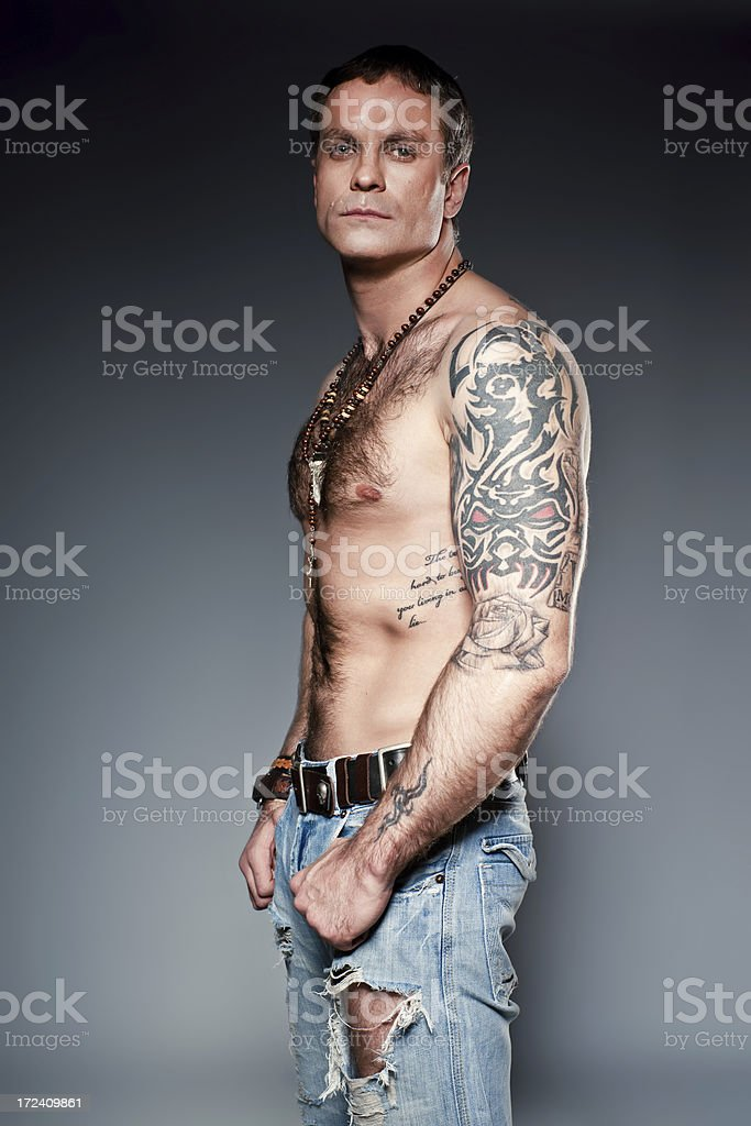 Brutal man stock photo