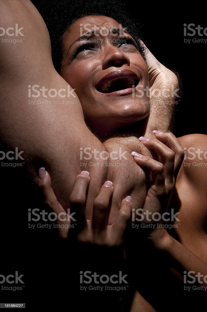 Brutality and abuse stock photo