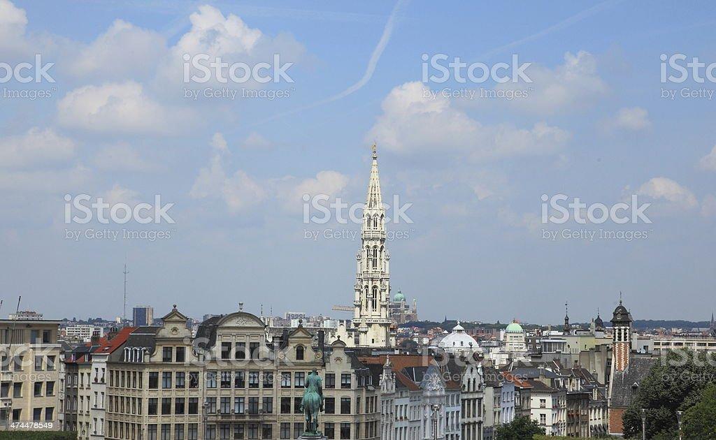 Bruxelles capital of Europe Skyline stock photo