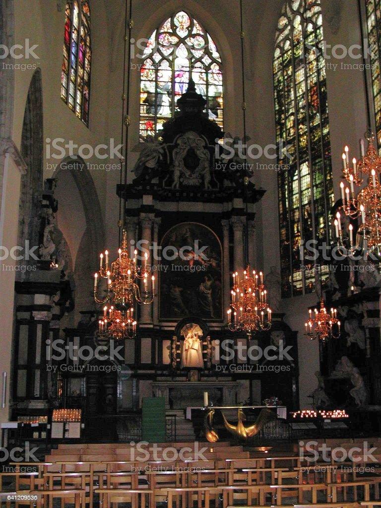 Bruxelles - Cappella della Vergine della Liberazione stock photo