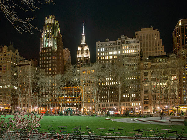 Bryant Park on a Sunny Early Spring Evening