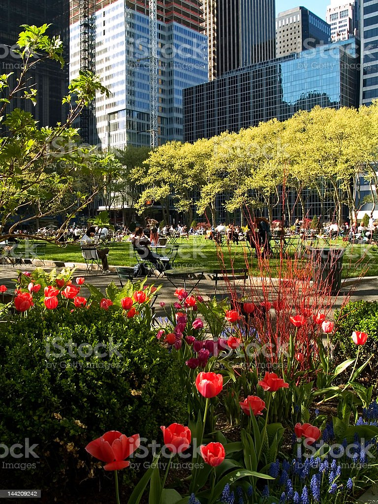 Bryant Park Spring stock photo