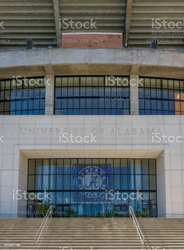 Bryant-Denny Stadium at University of Alabama stock photo