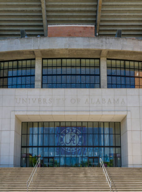 Bryant-Denny Stadium at University of Alabama stock photo
