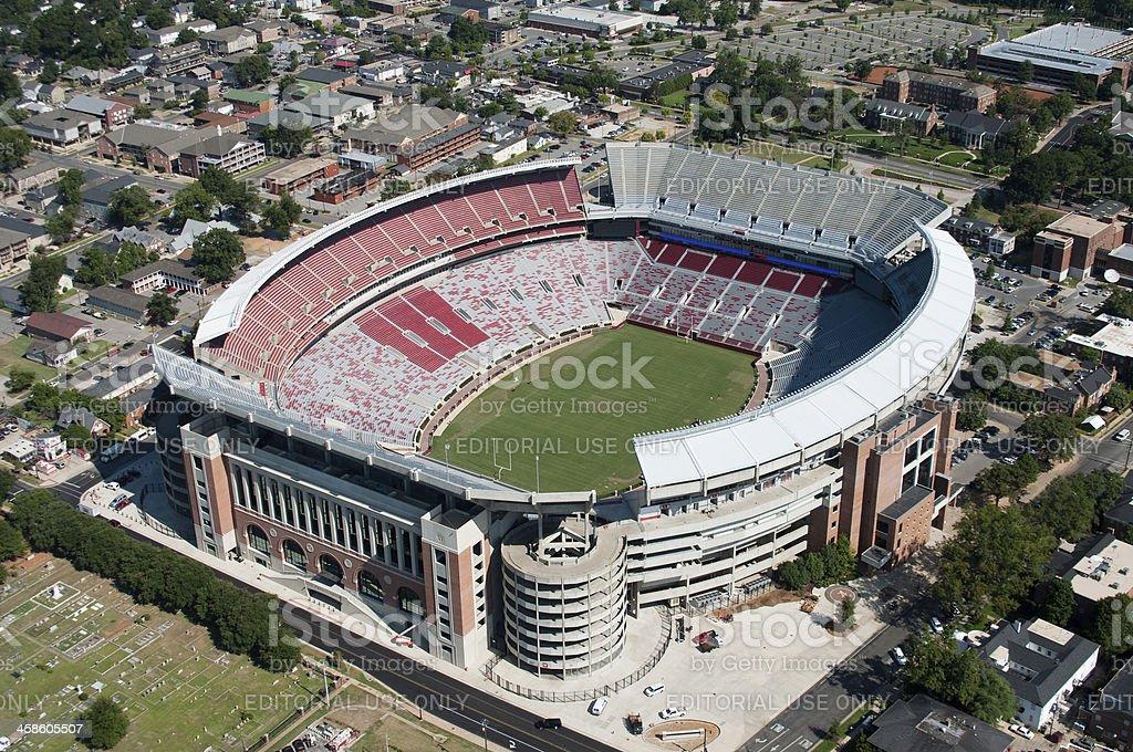 Bryant-Denny Stadium in Tuscaloosa stock photo