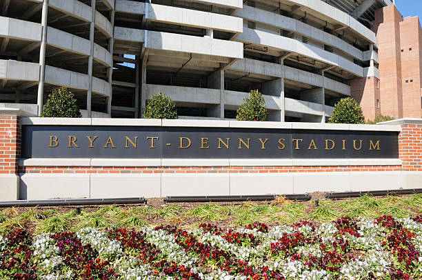 Bryant-Denny Stadium Sign Close Up stock photo