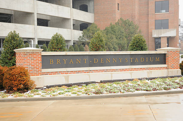 Bryant-Denny Stadium Sign stock photo