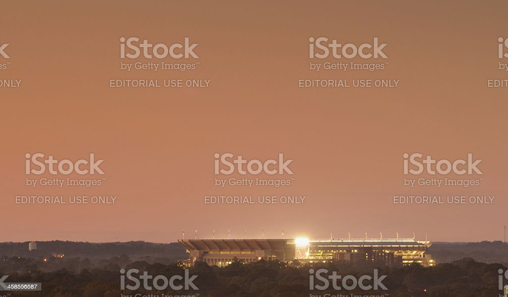 Bryant-Denny Stadium University of Alabama royalty-free stock photo