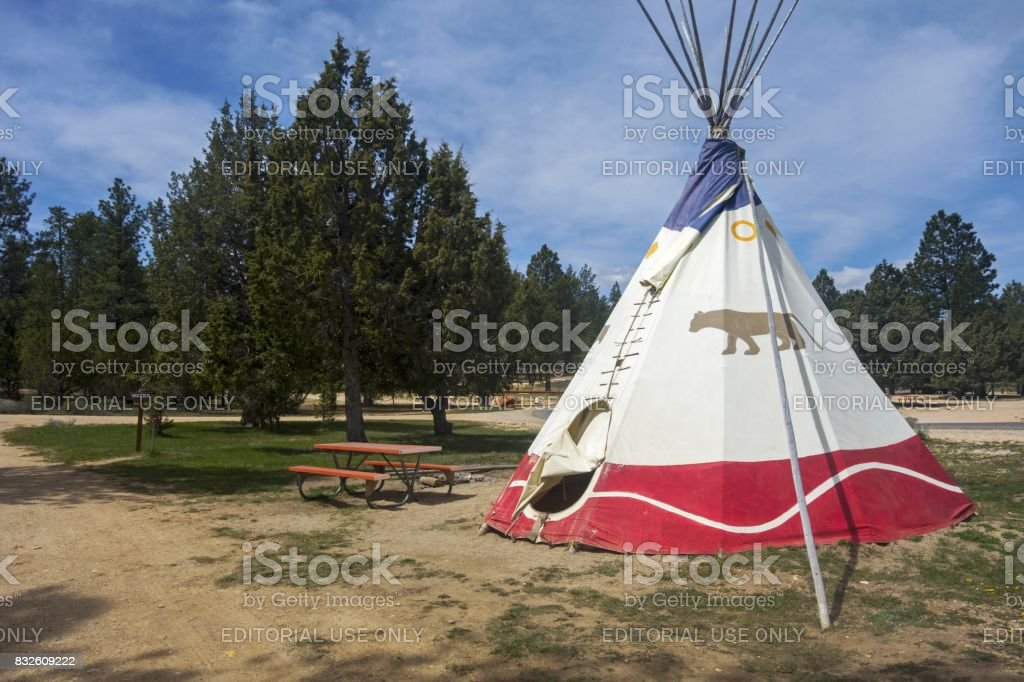 Bryce Canon Teepee Camping stock photo