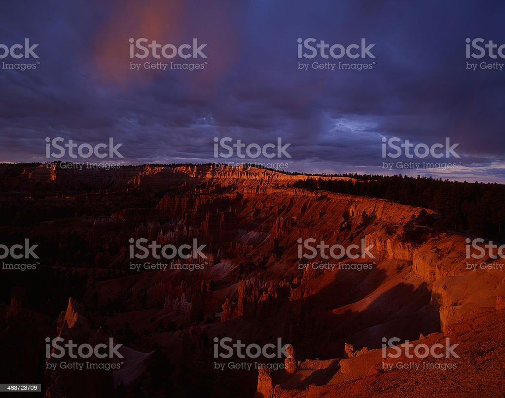 Bryce Canyon at Dawn with Clearing Storm royalty-free stock photo
