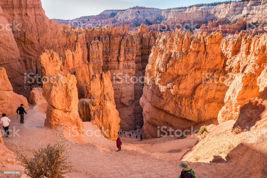 Bryce Canyon down to Wall street in Utah stock photo