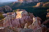 Bryce Canyon hoodoos in the first rays of sun, Utah